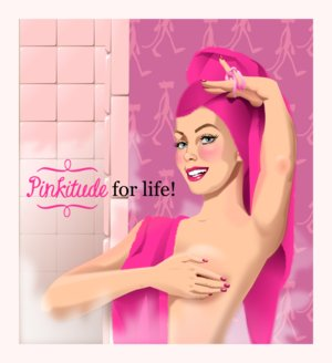 Pinkitude for life!  A pink reminder that self breast exams are 'for life' by QuichLouraine