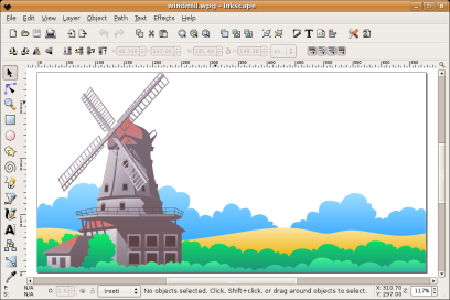 Inkscape rendering an WPG file